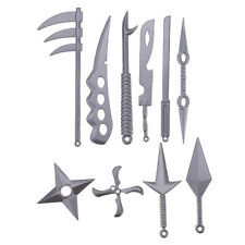 10Pcs/set Metal Sword Knife Kunai Kids Ninja Cosplay Toy Boy Girl Birthday Gift