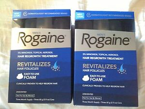 Men-039-s-ROGAINE-Hair-Regrowth-Unscented-Foam-6-months-supply
