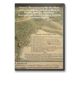 69-Historic-Revolutionary-War-Maps-FL-GA-LA-PA-VA-on-CD-B69