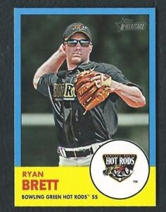 Ryan-Brett-Hot-Rods-Rays-2012-Topps-Heritage-Minors-Blue-Border-Parallel-1-1