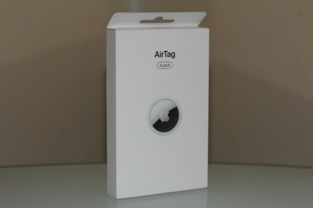 Original Apple AirTag - Pack of 4 Air Tag, Silver MX542AM/A Brand New Sealed