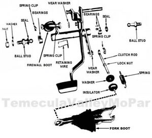 Details about Clutch Linkage & Boot Set for 1967-1969 MoPar A-Body