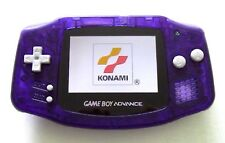 Gameboy Advance w/ AGS-101 Brighter Screen Backlit Clear Purple - Nintendo GBA