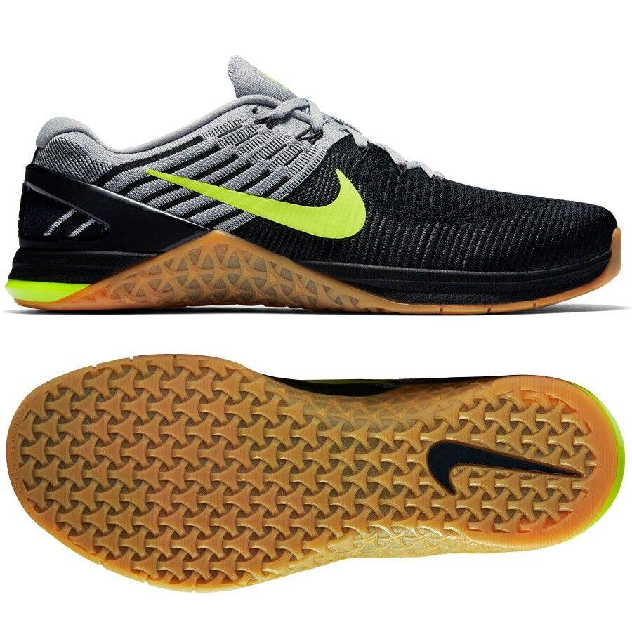 Nike Metcon DSX Flyknit Black Volt Training Shoes Kicks Sneakers 8 Mens 852930 Cheap women's shoes women's shoes
