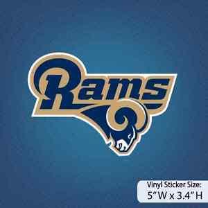 Los Angeles Rams La Rams Version A Decal Vinyl