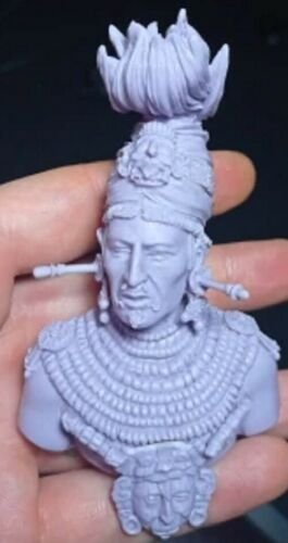 Details about  /1//10 BUST Resin Figure Model Kit Warrior Mayan Native American Chieftain Unpaint