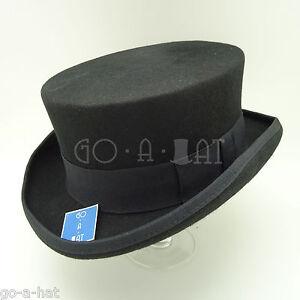 0c209bac2da8b VINTAGE Wool Felt Tuxedo Men Top Hat Coachman Gentlemen Topper ...