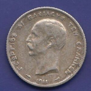 Greece-1-drachme-1911-Very-Fine