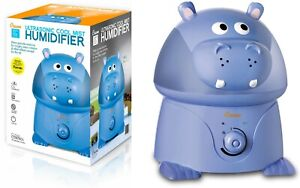 Details about Crane Adorable Ultrasonic Cool Mist Humidifier Blue Hippo