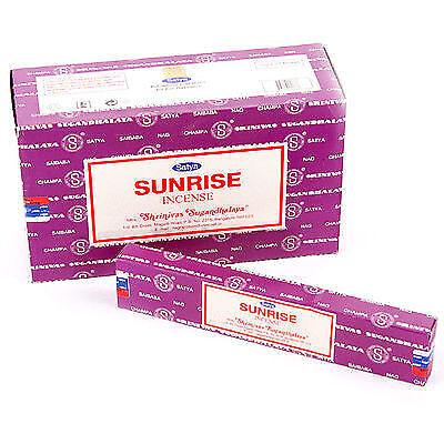 SUNRISE von Satya BIG PACK  12 x 15 g  Räucherstäbchen Sonnenaufgang