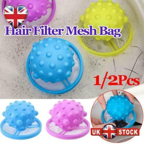 1//2PCS  Laundry Balls Washing Machine Floating Filter Mesh Bag Fur Hair Catcher