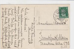 germany 1928 building & garden stamps card ref 18956