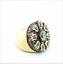 thumbnail 2 - MCL Matthew Campbell Laurenza Sapphire Enamel Retro Ring Sterling Silver Sz 5.5