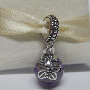 879a9776c Image is loading New-Pandora-Charm-791258ACZ-Purple-Morning-Butterfly -Dangle-