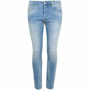 Diesel Tepphar 084gi Hombre Denim Jeans Slim Fit Pantalones Informales De Efecto Envejecido Conico Ebay
