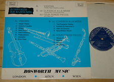 BOSWORTH LIBRARY BLP 132 LP VISIONS CLASSICA FOUR PERIOD ~ ETOILE HOTTER TEUPEN
