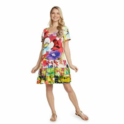 Jams World Harper Dress Meadow Mist Print Sundress X-Large Made in USA