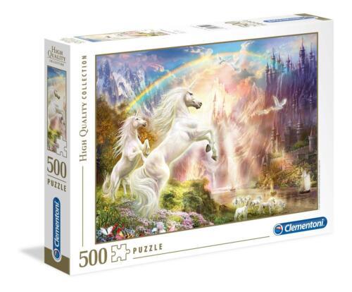 500 Piezas Clementoni Sunset Unicornios Rompecabezas De Alta Calidad