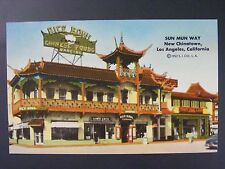 Sun Mun Way New Chinatown Chinese Food Los Angeles California Postcard 1952 VTG