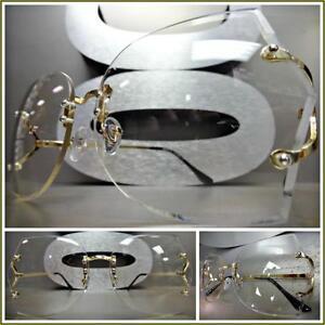5bde4007f4 New OVERSIZED VINTAGE 70 s RETRO Style Clear Lens EYE GLASSES ...