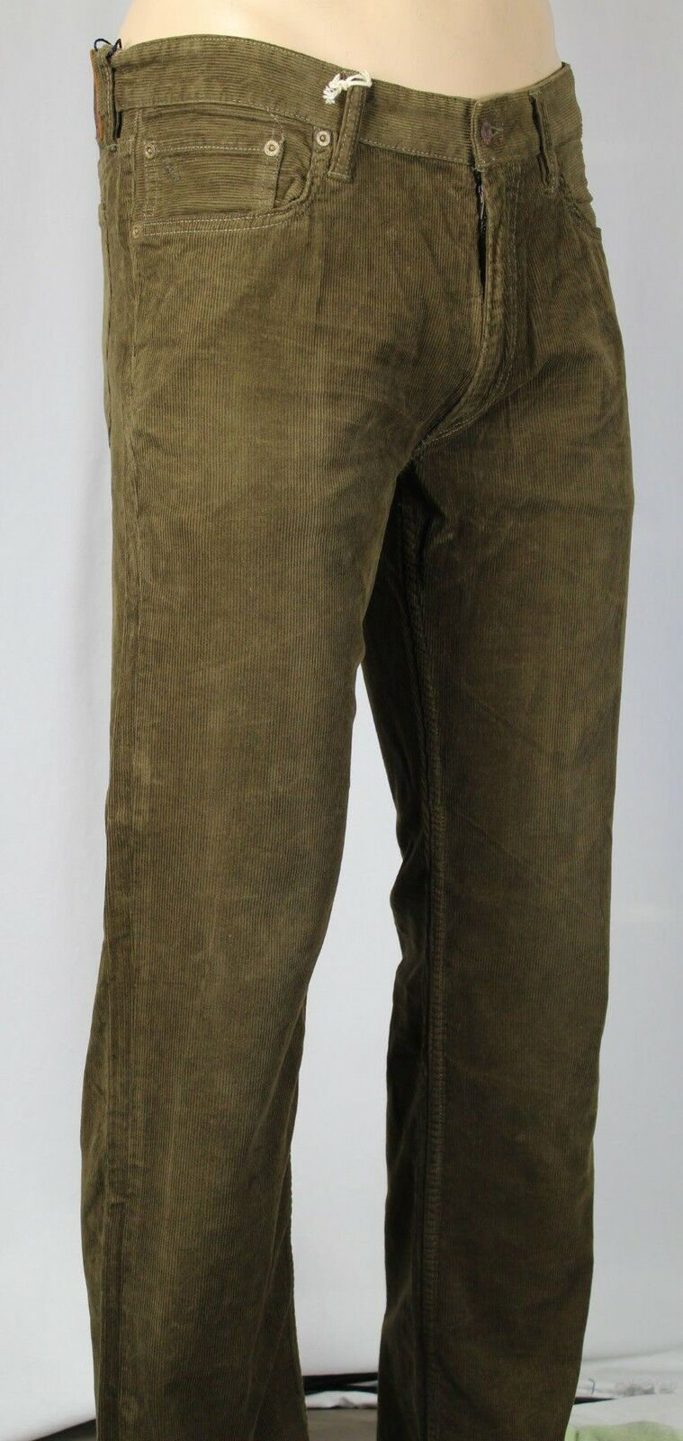 Ralph Lauren Straight 650 Brown Corduroy Jeans Leather Tag NWT