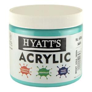 Hyatt's Acrylic 16 Oz Bright Aqua Green