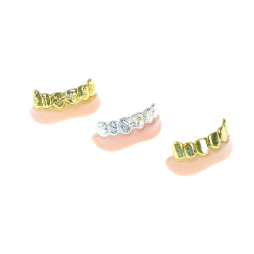 1pc Bling Fake Teeth Bulk Halloween Birthday Party Gold Silver FG