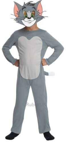 Boys or Girls Tom and Jerry 1960s Cartoon Cat Mouse Fancy Dress Costume Outfit