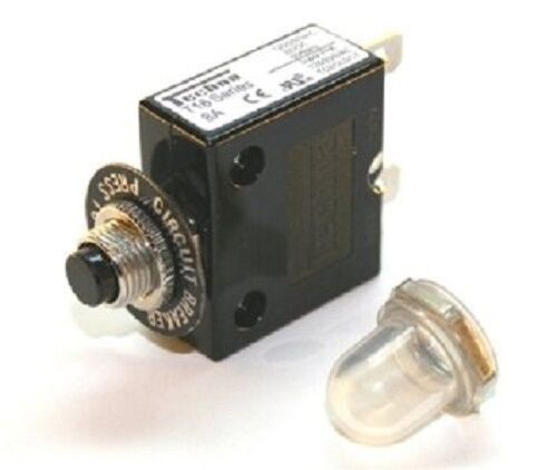 8A Circuit Breaker Supplied With Splashproof Dust Cap Techna T16 Thermal