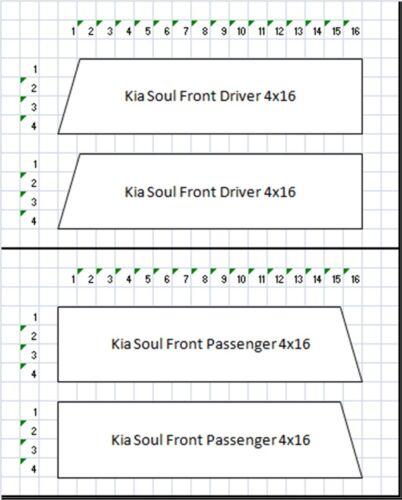 """Fits Kia SOUL NEW Hash Mark Bars vinyl Racing Stripes Sport Fender 4/"""" Decals"""