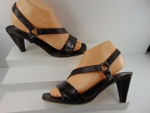 f59b29dd9f39 BRIGHTON (MADE IN ITALY) SOFT BLACK LEATHER MID HEEL MULE SANDAL 7 M ...