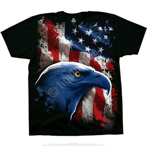 AMERICAN-ICON-BALD-EAGLE-T-SHIRT-PATRIOT-FLAG-M-L-XL-XXL-Freedom-Liberty-Justice