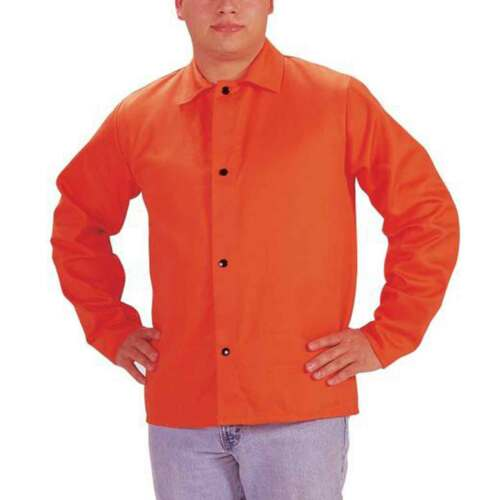 "Tillman 6230D Hi-Vis FR Cotton Welding Jacket 30/"" 9 oz Orange X-Large"