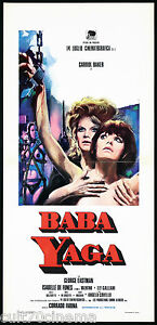 BABA YAGA LOCANDINA CINEMA CARROLL BAKER CREPAX VALENTINA 1973 PLAYBILL POSTER