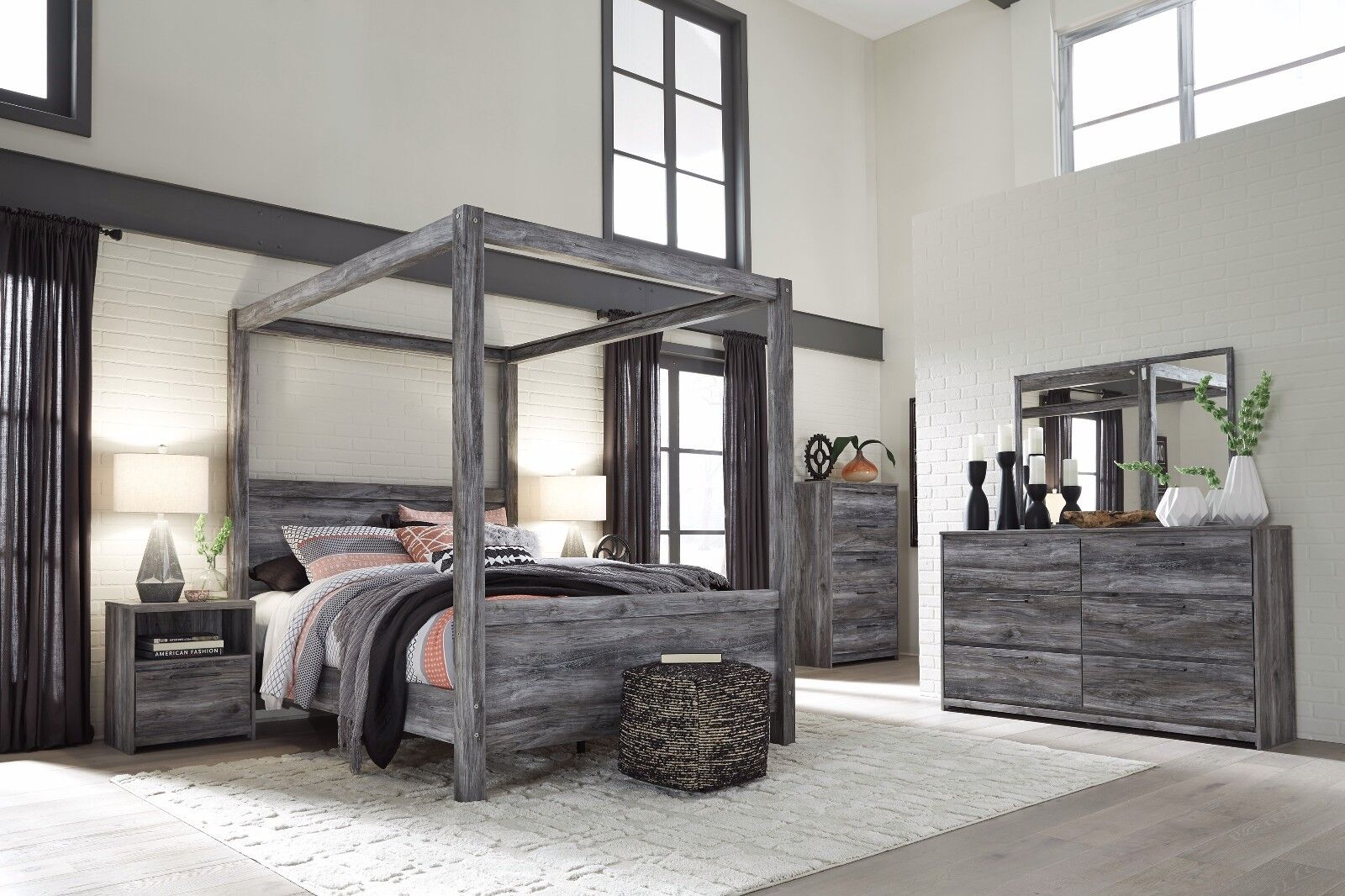Ashley Furniture Baystorm Queen Canopy 6 Piece Bedroom Set B221 For Sale Online Ebay