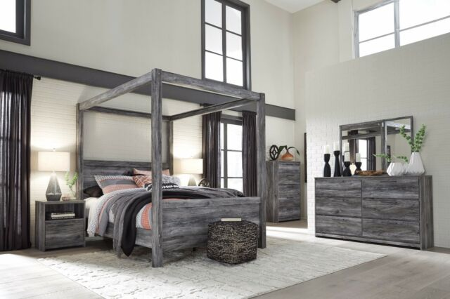 ashley furniture baystorm queen canopy 5 piece bedroom set 10475 | s l640