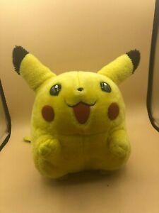 Rare-1999-Tomy-Pokemon-Pikachu-Nintendo-Plush-Soft-Stuffed-Toy-Doll-With-Sound
