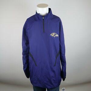 NWT-65-Reebok-On-Field-Purple-Baltimore-Ravens-NFL-Sideline-Hot-Jacket-Mens-XL