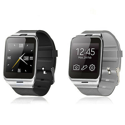 Bluetooth 3.0 Smart Watch GSM NFC Camera TF Card Wristwatch for Android Phone