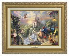 Thomas Kinkade -Disney's Beauty & The Beast -Canvas Classic (Gold Frame)