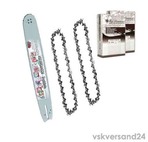 Schwert 38 cm passend für Husqvarna 350 351 353 2 Ketten 325*1,5*64