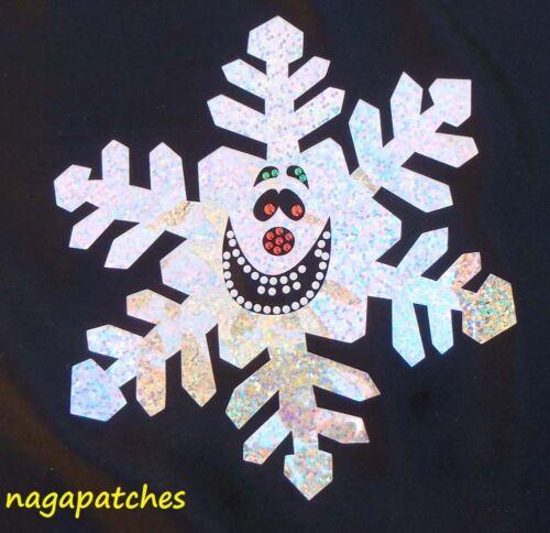 Motif à floquer / Transfert en glitter thermocollant Flocon de neige