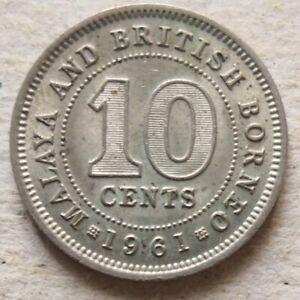 Malaya & British Borneo 1961 10 cents coin (B)