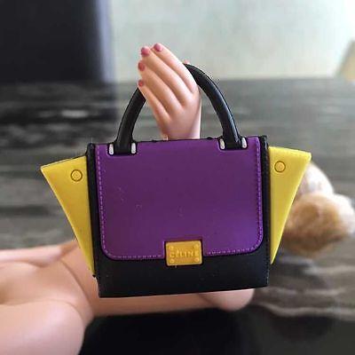 new plastic purse bag for fashion royalty silkstone barbie dolls