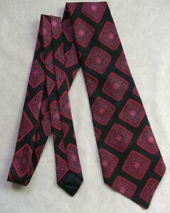 Travailleur Vintage Cravate Homme Large Cravate Rétro Fashion Noir Bordeaux Vin-afficher Le Titre D'origine
