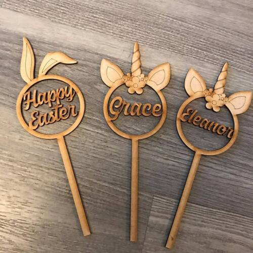 bunny magical kids crafts laser cut personalised wands unicorn wands