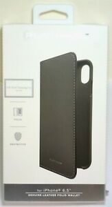 Platinum-Leather-Folio-Wallet-Case-for-Apple-iPhone-XS-Max-Charcoal