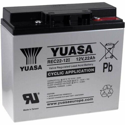 batteria al piombo YUASA  per sedia a rotelle elettrica  Alber E-Fix 26 12V 22Ah