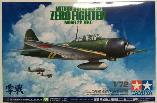 Zeke 1//72 Model Kit NIB Tamiya 60785 Mitsubishi A6M3//3a Zero Fighter Model 22