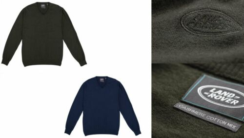 Genuine LAND Rover Gear-V-Neck Jumper-Mix di cotone//cashmere-lrvknit